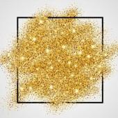 """Золотая"" с глиттерами 24-х каратного золота"